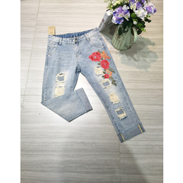 丽莎 品牌牛仔裤火爆出售 折扣走份批发