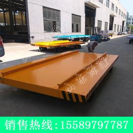 源隆定做10吨厂区平板拖车 特种板面平板拖车 叉车牵引板车