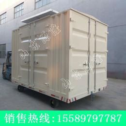 源隆定做各种12吨雨棚平板拖车 防水棚式平板车 工厂箱式拖车
