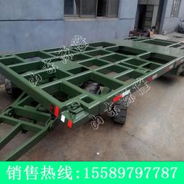 源隆定做20尺集装箱平板拖车 集装箱厂区板车 8吨箱式平板车