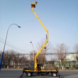 14米曲臂升降機 漢川市高空作業車報價 旋轉液壓升降臺直銷