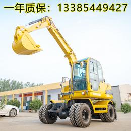 小型土石方工程用的小型轮式挖掘机多少钱一台
