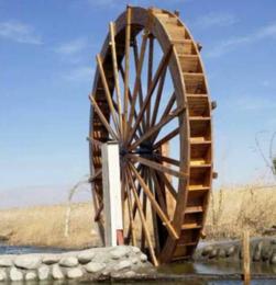 厂家直销防腐木水车风水轮 户外景观水车风车 实木水景水车