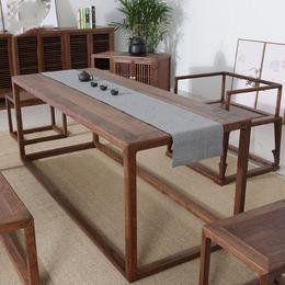成都国学堂中式画案定做 成都孔子学院家具定制 成都中式家具