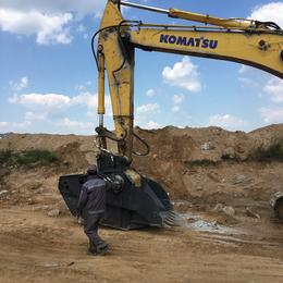 厂家直销适配各吨位挖掘机碎石机 破碎斗 建筑垃圾破碎机