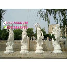别墅天使摆设玻璃钢欧式春夏秋冬四季节女神西方人物雕塑像