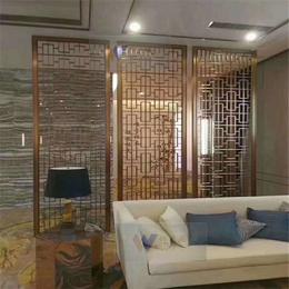 家庭客厅玫瑰金拉丝不锈钢屏风隔断高端时尚不锈钢屏风花格