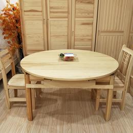 江西松木家具餐桌定制 饭店餐桌椅 组合小户型家用全屋型