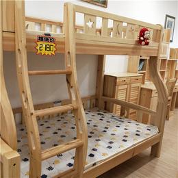 江西松木上下铺双层子母床 实木环保家具厂家定制 儿童高低床