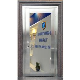 广东固盾防火门厂供应单开乙级不锈钢大玻璃防火门出货迅速