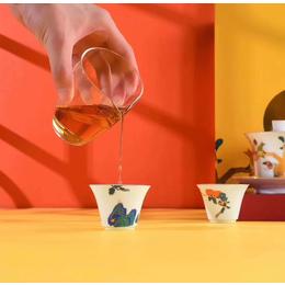 中秋节礼品陶瓷茶具 柿柿如意盖碗茶具套装
