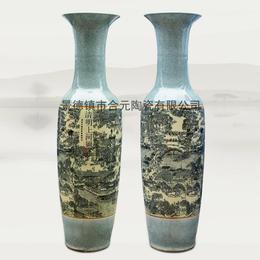 开业礼品大花瓶  手绘落地大花瓶厂家
