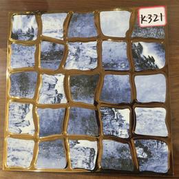 K321鹅卵石款琥珀釉K金砖厂家直销