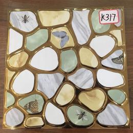 K317多彩鹅卵石琥珀釉K金砖