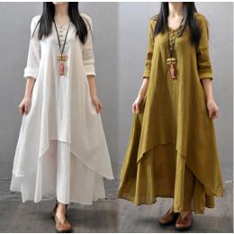 广州棉麻大码女装一手货源品牌折扣广州女装尾货厂家直销