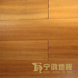 天然纽墩豆NH001地板 客厅卧室耐磨亮光全实木地板厂家