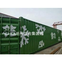 热销特种集装箱 创意logoqy8千亿国际箱 河北沧州集装箱厂家销售