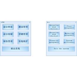 中英文版点餐管理系统中英文餐饮管理软件