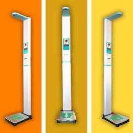 上禾科技平安国际娱乐秤+超声波身高体重测量仪+语音播报+自动打印