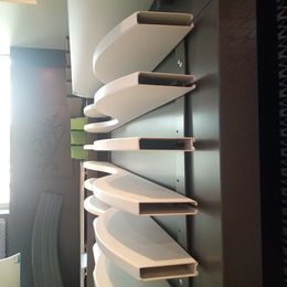 售楼中心外墙装饰 弧形铝方通 波浪形铝格栅 白色铝格栅