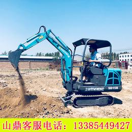山西晋城农村都在用的山鼎小型挖掘机 农用小型挖掘机厂家