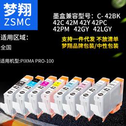 梦翔 适用佳能PRO-100喷墨打印机 墨盒CLI-42BK