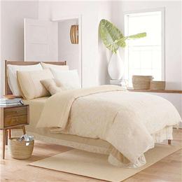 北歐簡易實木床定制 暖色調