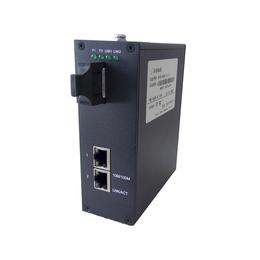 正维通信1光2电光纤收发器1000B-1S-2T交换机