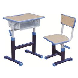 HL-A1928注塑包边手摇式起落课桌椅