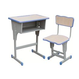 HL-A1932注塑包边升降单柱课桌椅