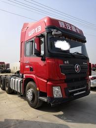 二手重卡德龙重载重型拖头牵引车二拖三箱式侧翻厢式侧卸车