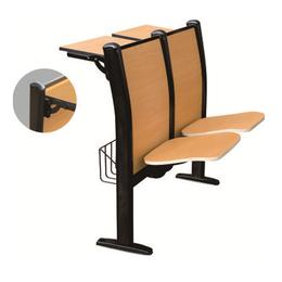 钢管自动静音翻版课桌椅