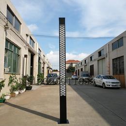 网格图案景观灯LED公园庭院灯方形灯柱亚克力灯罩庭院灯定制