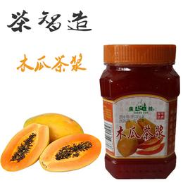 茶智造 奶茶连锁店新品木瓜茶浆