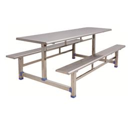 HL-A19122 八位不锈钢条形餐桌