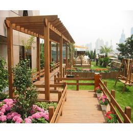 厂家供应 户外防腐地板木质花架 葡萄架