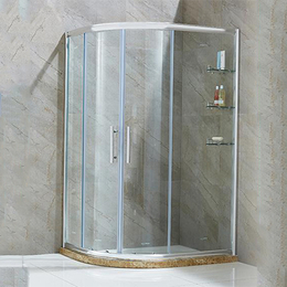 洗澡间  淋雨弧扇形钢化玻璃门