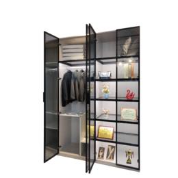 厂家直销全铝博古架铝材 铝合金橱柜家具成品定制