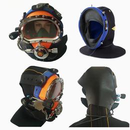 国产潜水厂供海洋工程打捞头盔 300米水下潜水头盔套装