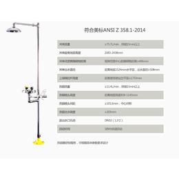 供应全自动排空复合式洗眼器  304不锈钢自动排空洗眼器