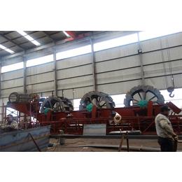 轮式洗沙机筛沙水洗机山东青州生产商