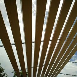 停车棚吊顶铝扣板 木纹铝条扣 C型木纹铝扣板