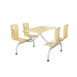 4人位連體餐桌椅 工廠批發學校餐桌椅