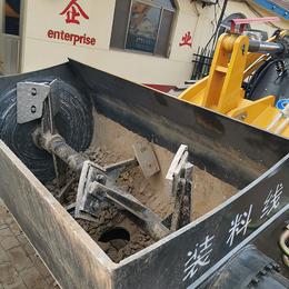 改装方便铲车混凝土搅拌斗直接代替省人工搅拌铲斗
