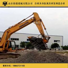 供应沃尔沃300挖掘机破碎斗 鄂式广东碎石机厂家移动破碎青石