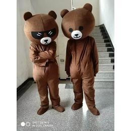 网红熊卡通行走人偶服装定制布朗熊玩偶活动宣传表演道具批发定做