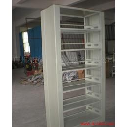 雙柱單面儲物書架 鋼制書柜書架廠家 書架批發