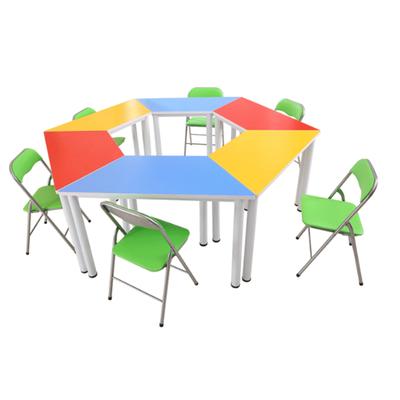 中小学生多人固定拼接课桌椅