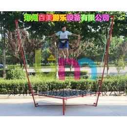 遼陽手動兒童鋼架蹦極跳床廠家價格