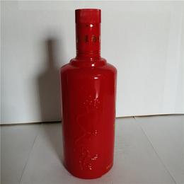 晶白料玻璃酒瓶 500ml喷涂玻璃瓶